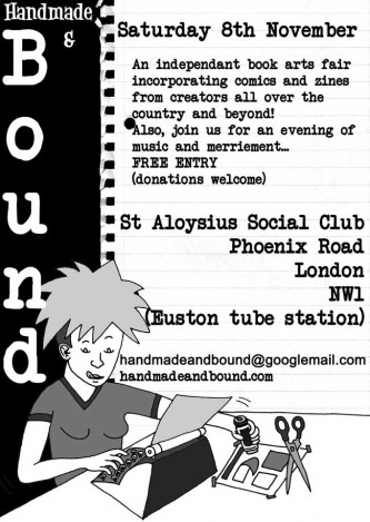 Handmade & Bound 2008 flyer by Jimi Gherkin