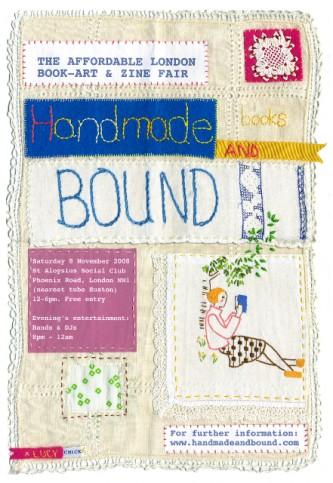 Handmade & Bound 2008 flyer by Lucy Chick